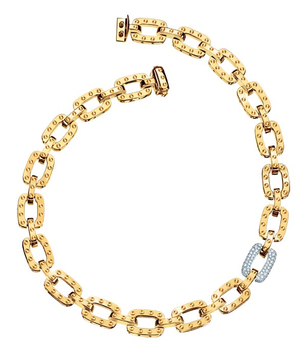 Roberto Coin Necklace in 18kt yellow gold with diamond link    $18,750 At Birks