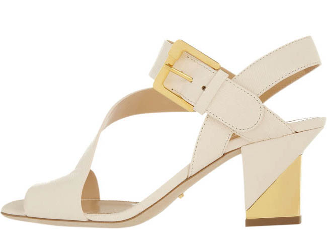 Sergio Rossi textured-leather sandals $822 At net-a-porter.com