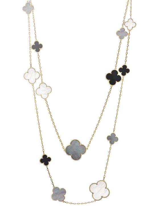 """Magic Alhambra"" necklace by Van Cleef & Arpels  $22,100 At Birks"