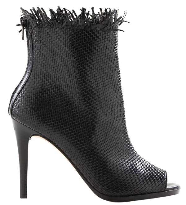 Stuart Weitzman Black Tight Woven $975