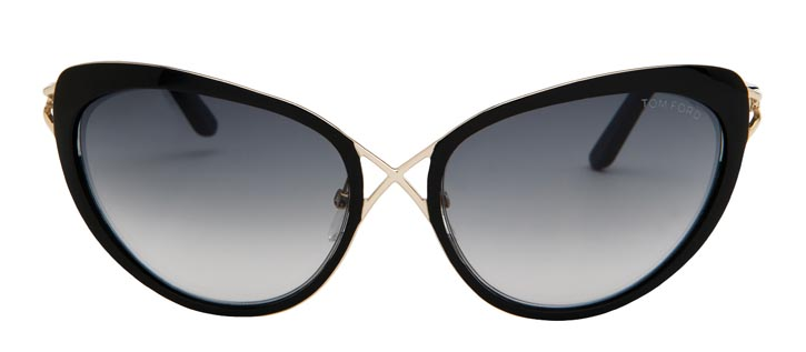 Tom Ford black cat-eye sunglasses $450  At Holt Renfrew