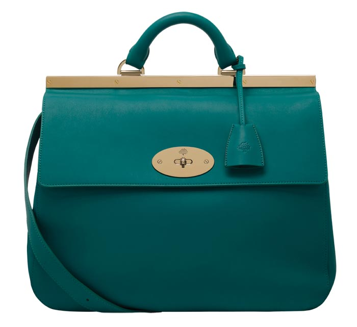 Mulberry Suffolk Emerald Classic Calf   $2,650   At Mulberry Boutiques