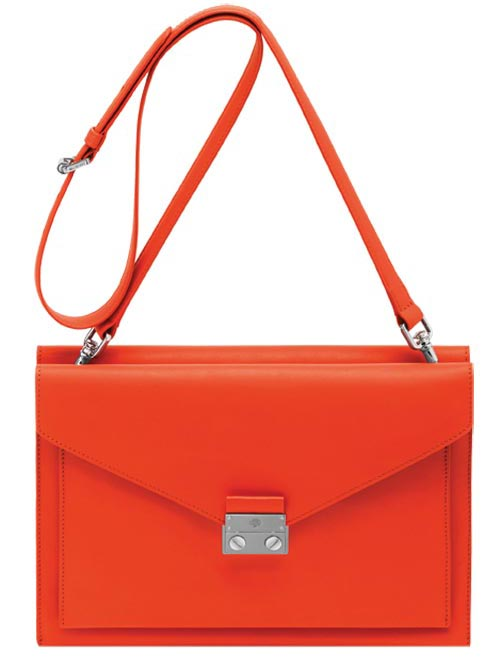 Mulberry Kensal Small Shoulder Bag in Fiery Red Velvet Calf   $1,600   At Mulberry Boutiques