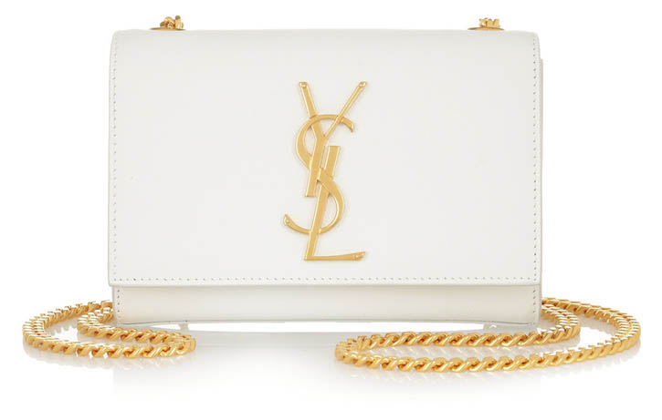 Saint Laurent Monogramme textured-leather shoulder bag   $1,095   At net-a-porter.com