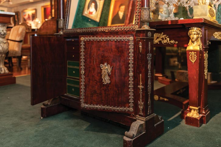 a jewellery cabinet commissioned for Napoleon Bonaparte's mother.