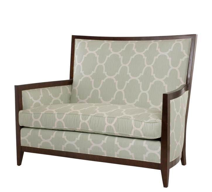 Century Furniture Monica Settee, Price Upon Request A simple design in a contemporary style uses precise lines and proportions to perfectly combine functionality and beauty. Customizable in various wood and fabric finishes. At Paramount Furniture, 604 273 0155 paramountfurniture.ca