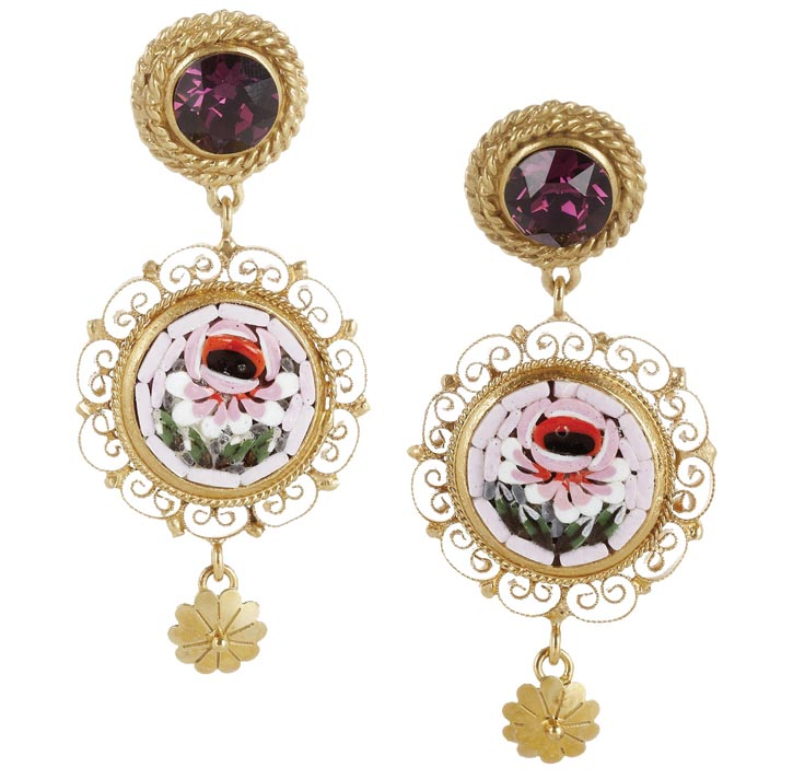 Dolce & Gabbana Gold-plated Swarovski crystal clip earrings, $595
