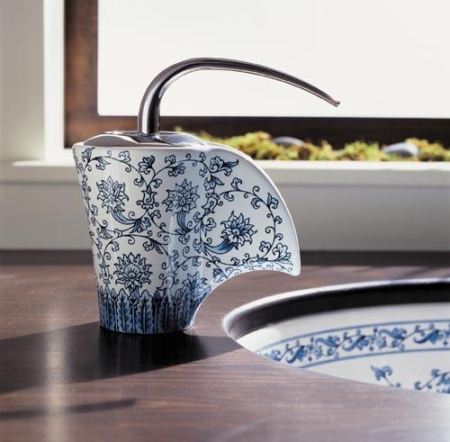 Kohler Vas Single-Control Ceramic Faucet with Imperial Blue Design At retailers across Canada,Kohler.ca
