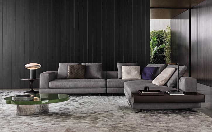 "The Minotti ""look"" is an interweaving of beauty with innovation, sophisticated modernism, and even elements of surprise."