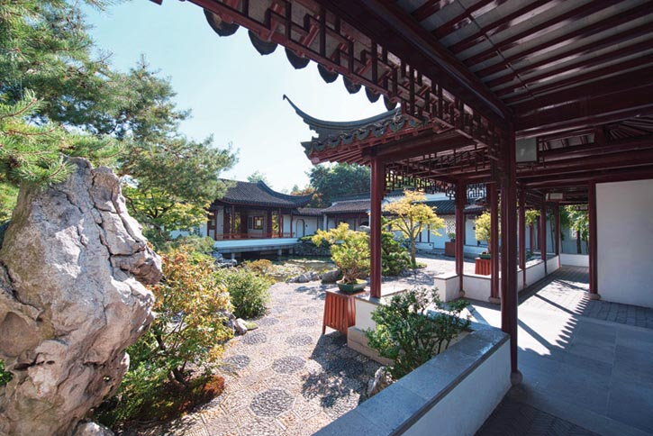 The Southern Courtyard at the Dr. Sun Yat-sen Classical Chinese Garden
