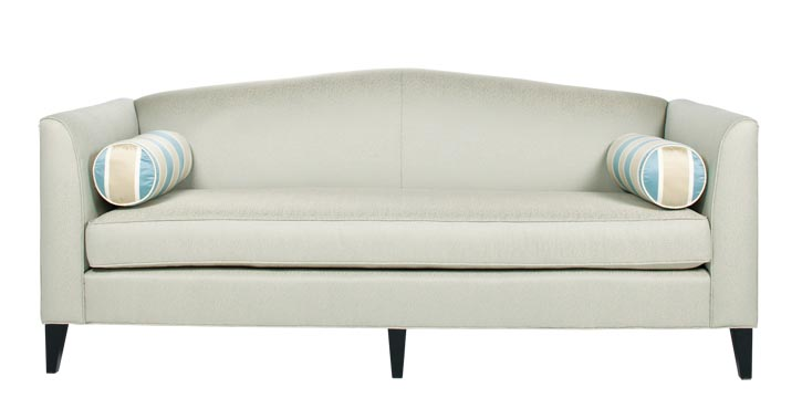 Barrymore Furniture BelAir Sofa, $4,440 Slender arms provide shelter and a slightly curved backrest draws gentle lines, setting off black tapered legs and striped bolster cushions. A contemporary flourish for any room. at Jordans Interiors, 604 733 1174 www.jordans.ca