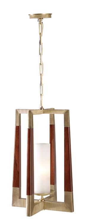 Baker Moderne Lantern Mahogany and brass warmly guard this nostalgia-inspired lantern. Within, there appears the illusion of a lit candle. At Brougham Interiors, 604 736 8822 broughaminteriors.com