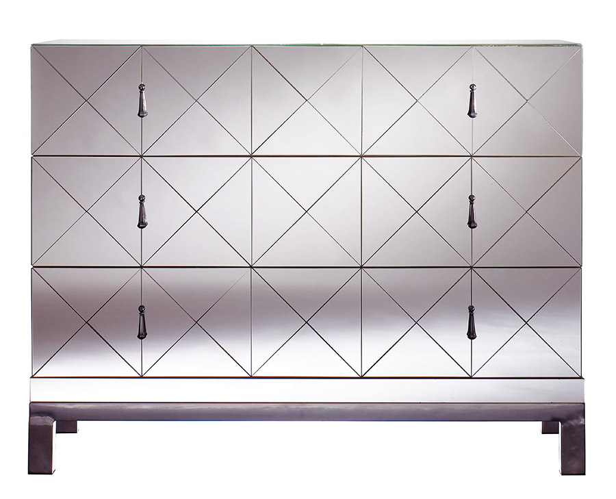 mirrored drawer chest modern furniture