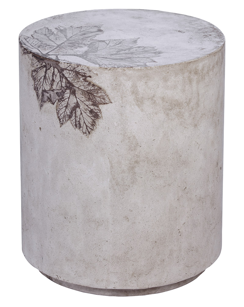 stool unique side table leaves gray