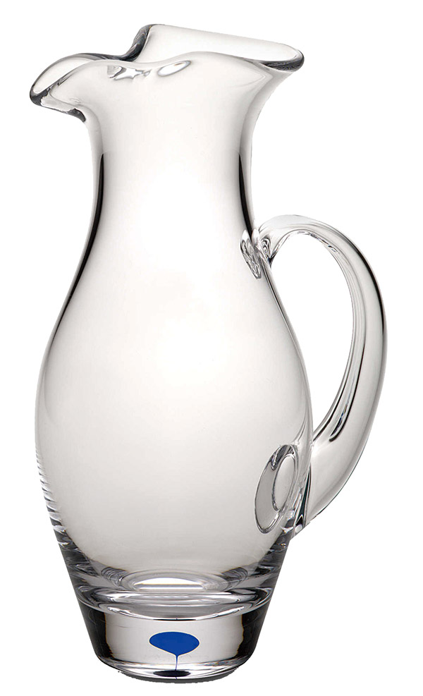 crystal pitcher blue flow handle