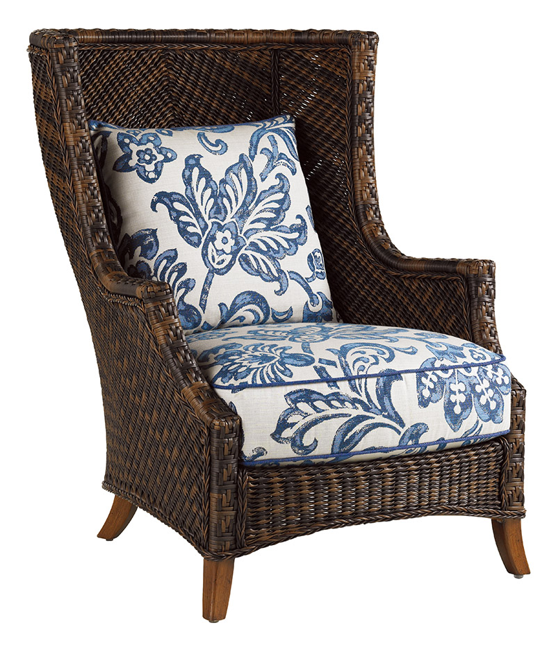 china blue wing chair