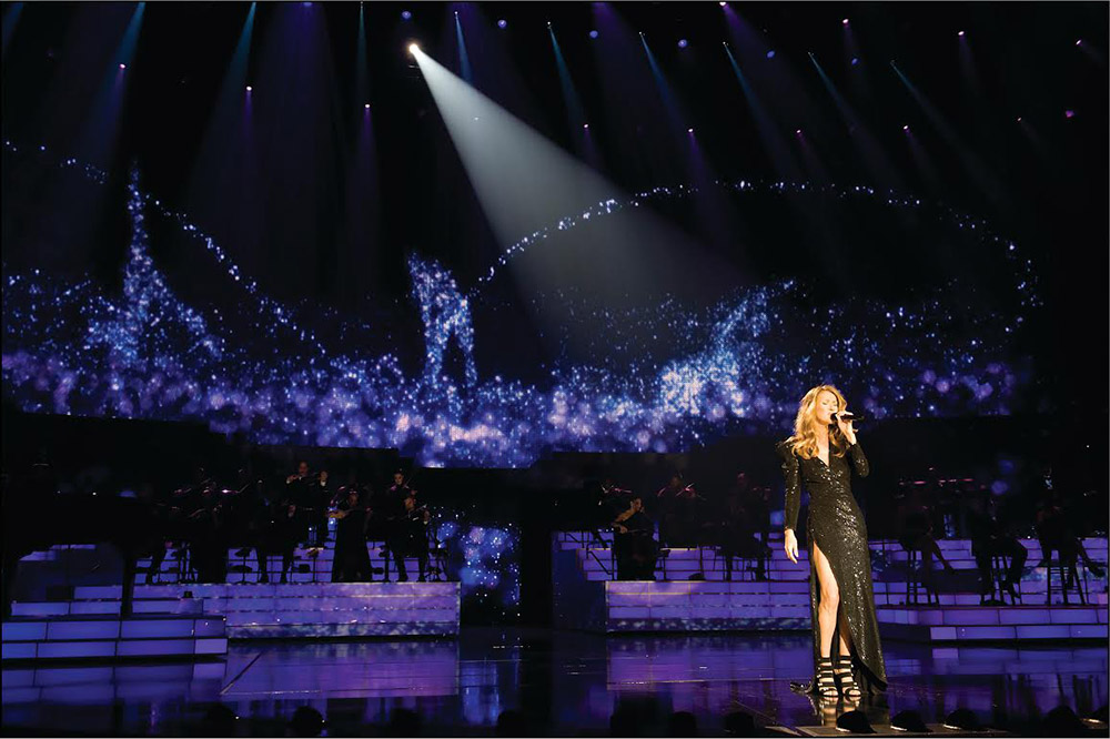 "Céline on stage; from her Las Vegas show ""Céline"""