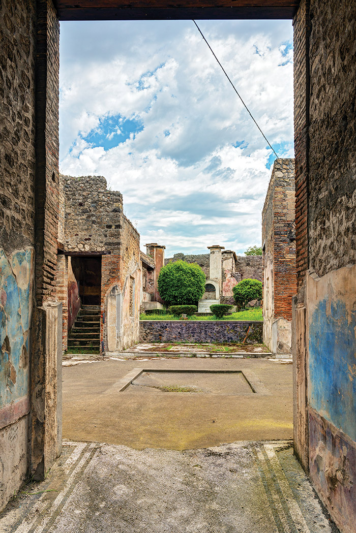 The ruins of Pompeii were not discovered until 1748, almost 1,700 years after the eruption buried them. They were found during the building of a palace for King Charles III. At 150 acres, it is the largest archaeological site in the world.