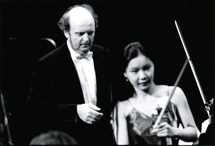 With the conductor of Orchestre National de France.