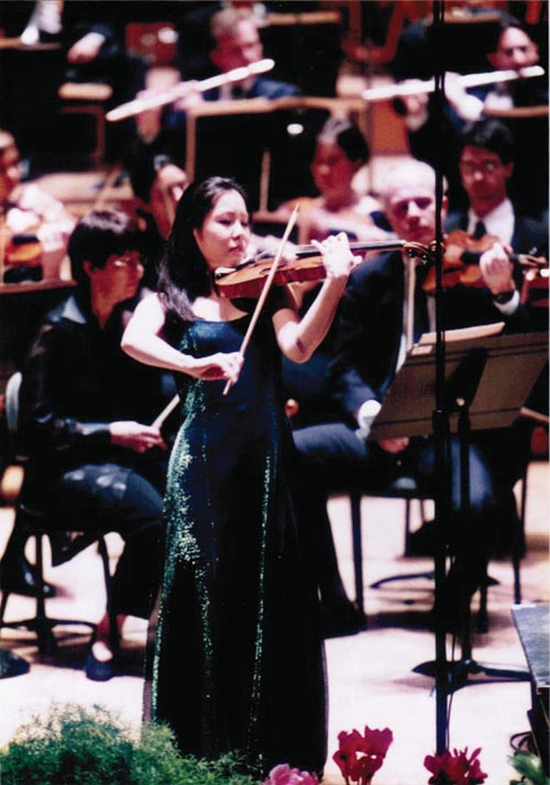 During the Marguerite Long-Jacques Thibaud International Violin Competition in Paris in 1999 when she won gold.