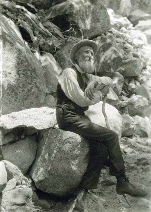 John Muir, writer, explorer and conservationist, in 1907.