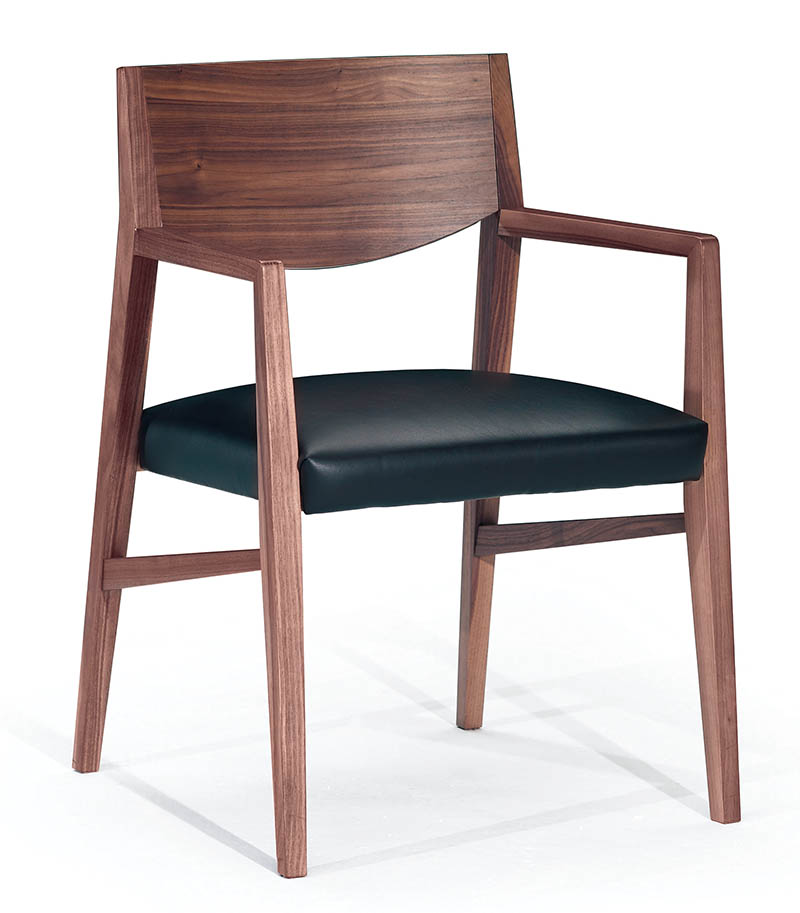 The Toughness Of Wood Meets The Softness Of Leather In These Simply  Sophisticated Dining Chairs Seamlessly Melding Form And Function. At Sandyu0027s  Furniture ...