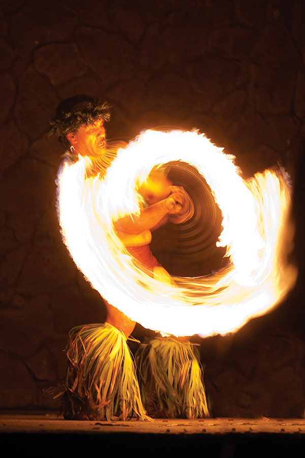 Polynesian fire show. (Grand Wailea Resort)
