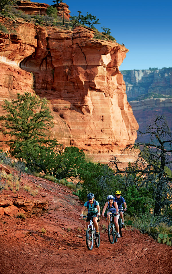 Sedona mountain bike trails offer a wide range of difficulty; the dry wash terrain, altitude and inclines can challenge the most experienced cyclists.(Images courtesy of Enchantment Resort)