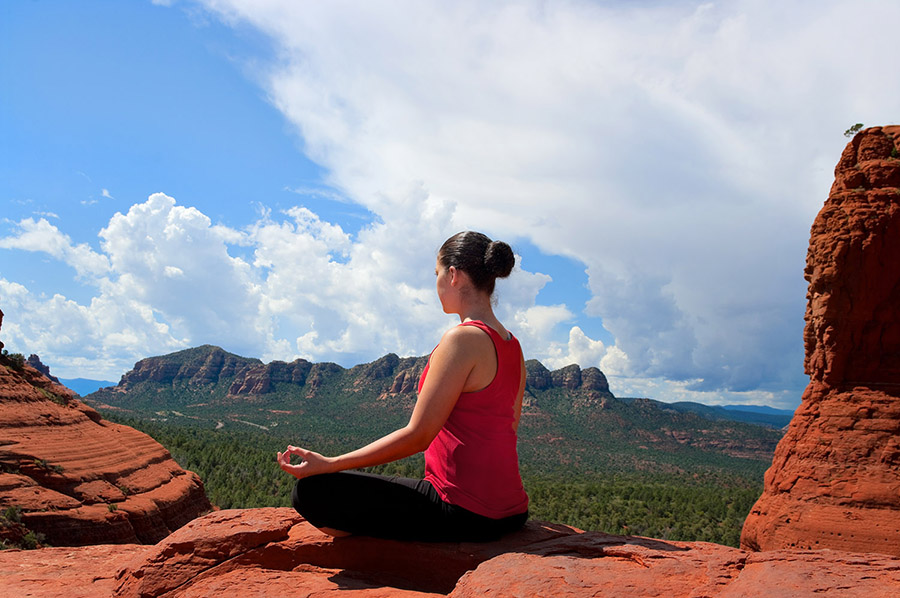 The energy vortexes — a major draw for yoga and mindfulness devotees — scattered around Sedona are popular spots to meditate.(Brian Chase/Shutterstock.com)