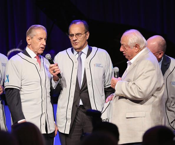 Baseball greats Fred Wilpon, Joe Torre and Tommy Lasorda