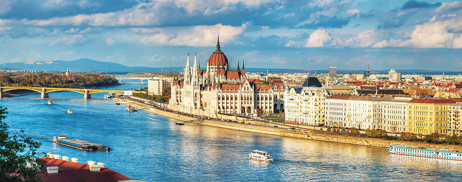 Queen of the Danube: Budapest's romantic skyline anchors the fabled river.(photo.ua/Shutterstock.com )