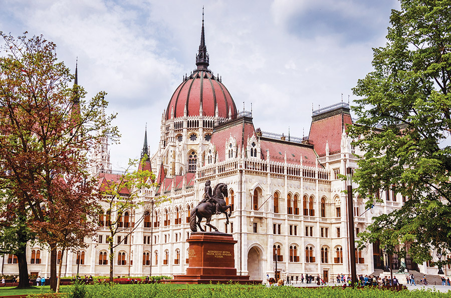 Visible from anywhere in the city, the majestic Hungarian Parliament Building is a gem of Neo-Gothic architecture.( Rafal Kubiak / Shutterstock.com )
