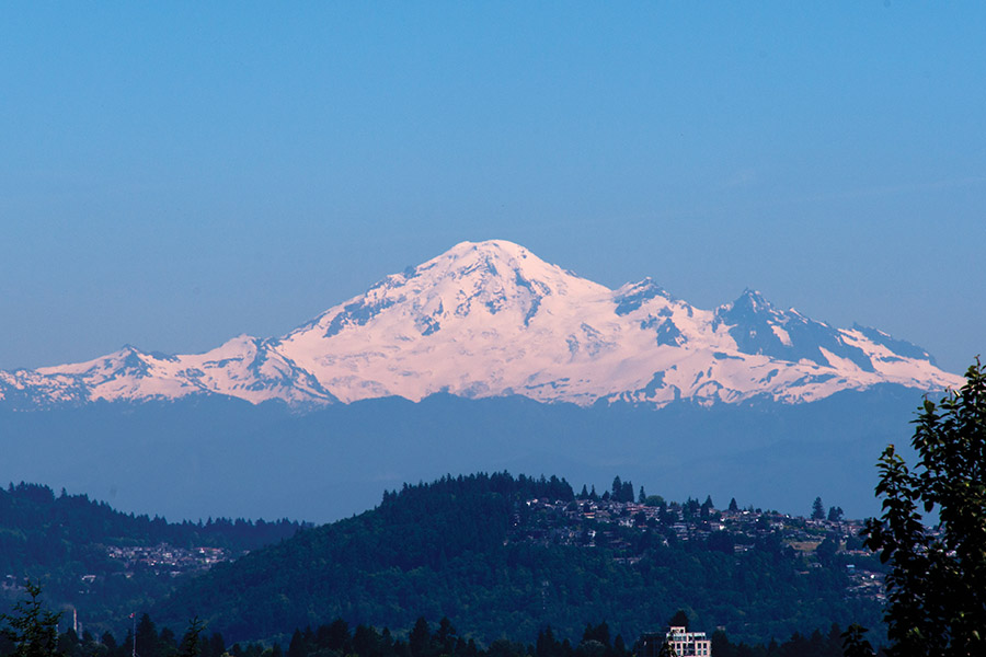 On a clear day, the view of Mount Baker from the house is glorious.