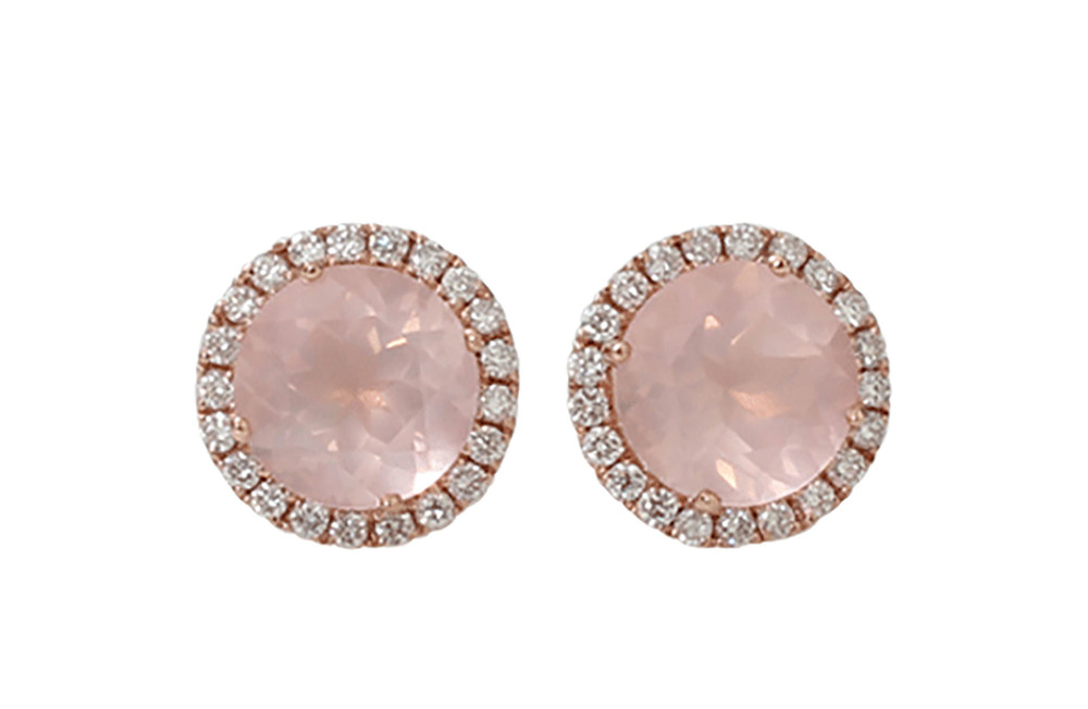 Dana Rebecca Designs Anna Beth Pink Quartz Stud Earrings US$1,650