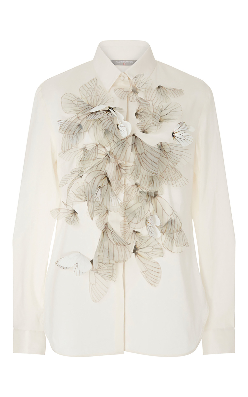 Clover Canyon Shirt with 3D Butterfly Embellishment US$395