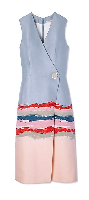Tory Burch Painterly Jacquard Dress US$895