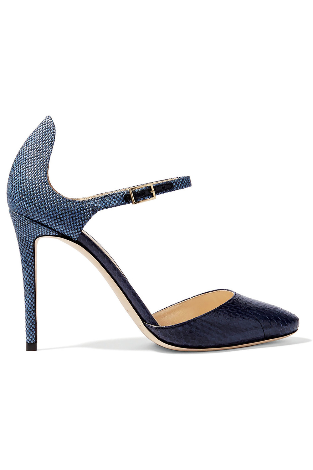Jimmy Choo Marny Elaphe Raffia Pumps US$1,110
