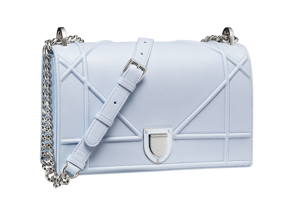 Diorama Bag in Sky Blue Archicannage Grained Calfskin $3,400