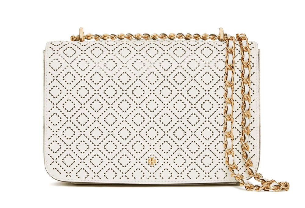 Tory Burch Robinson Perforated Shoulder Bag US$450