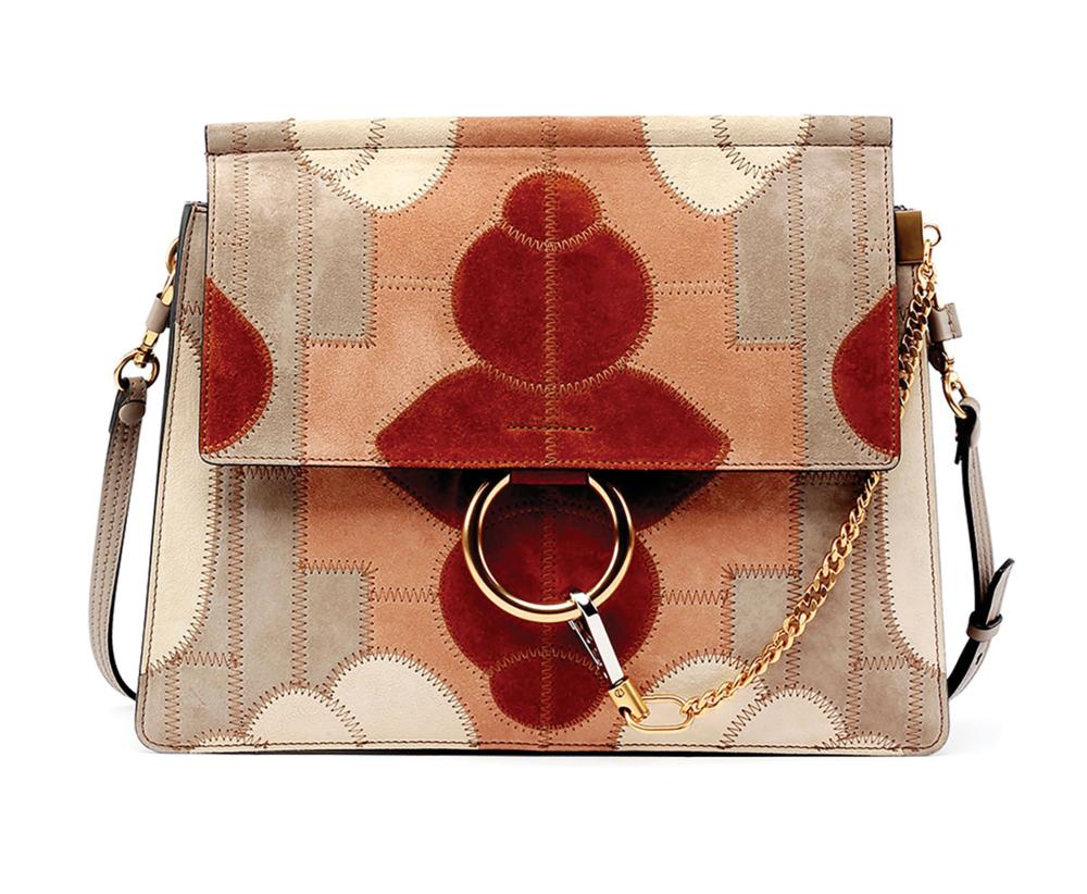 Chloé Faye Suede Patchwork Shoulder Bag$4,009