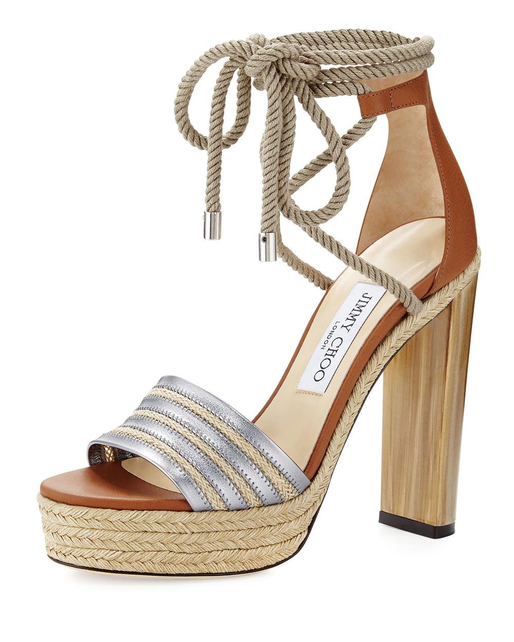 Jimmy Choo Maye Rope Tie Platform Sandal $1,437