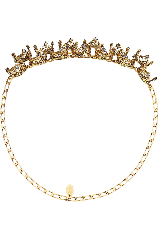 Erickson Beamon Ringtone Gold-Plated Swarovski Crystal Headpiece US$1,151