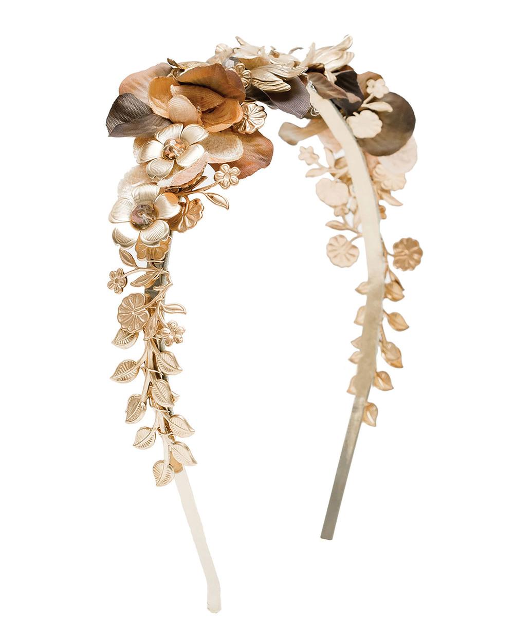 Eugenia Kim Iris Floral Cocktail Headband$325