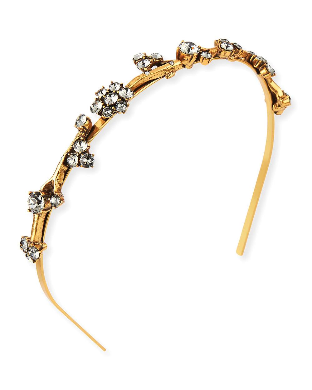 Oscar de la Renta Crystal Branch Headband$529
