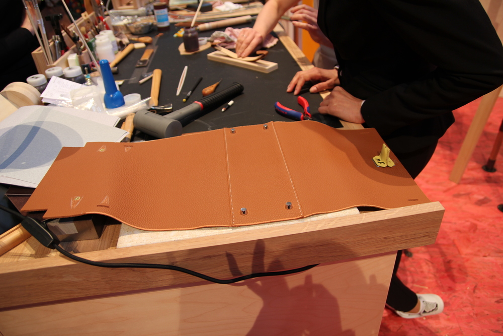 The beginnings of a leather Hermès handbag. (KaYan Wong/Taste of Life)