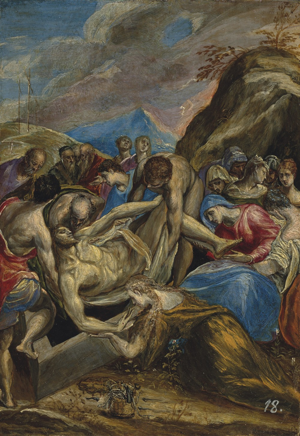The Entombment of Christ is the work of famous Spanish Renaissance artist Doménikos Theotokópoulos (1541-1614), widely known as El Greco. The nickname was used to denote his Greek heritage and Spanish citizenship.  This piece is one of El Greco's smaller works, and is just 11 x 7 5/8 inches. It comes to auction from a private collection in Europe. Estimate: $4 million to $6 million.  (PHOTO CREDIT: CHRISTIE'S IMAGES LTD. 2016)
