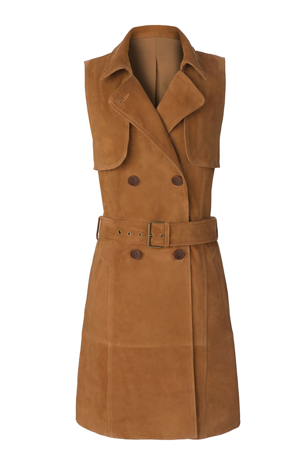 Olivia Palermo + Chelsea28 Sleeveless Suede Trench