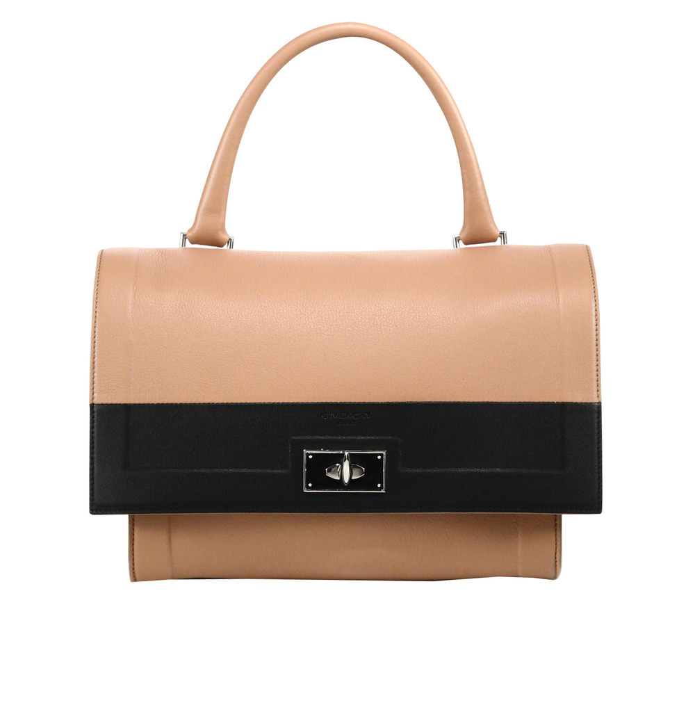 Givenchy Shark Small Two-Tone Leather Satchel