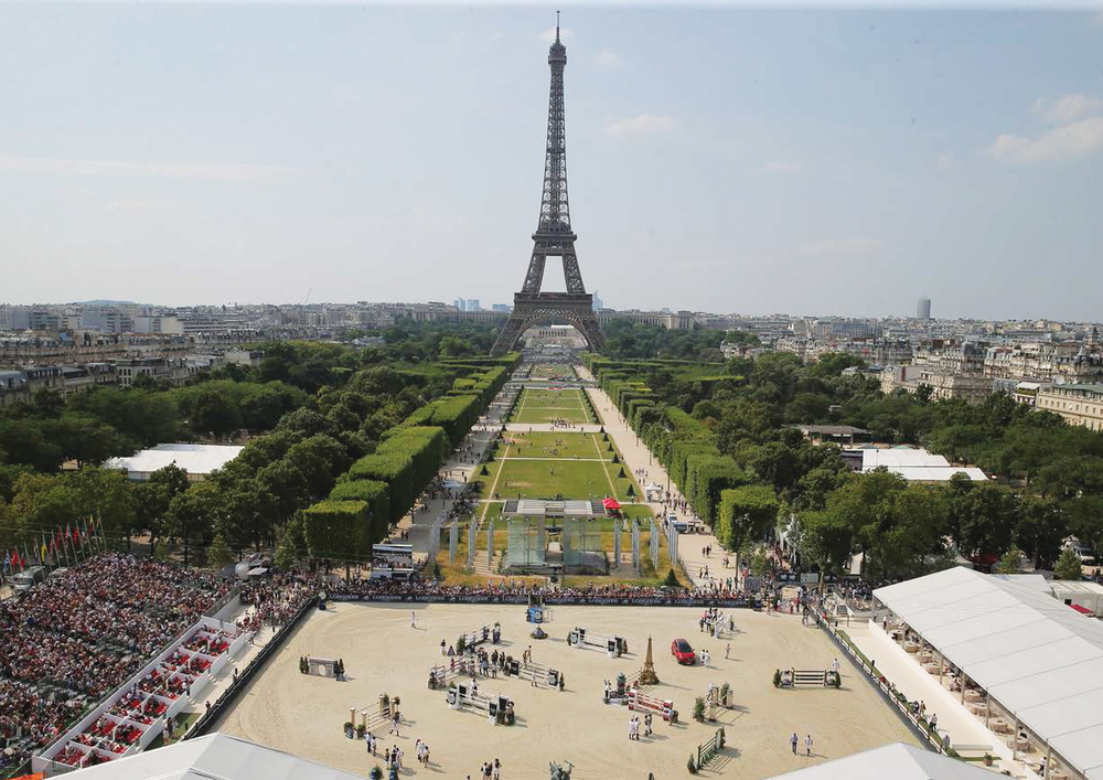 "The 2016 Paris Eiffel Jumping is a three day event, free and open to the public, starting July 1st. It is celebrated as a place where ""everyone can find happiness, and dream through the celebration of horses, art, culture and elegance."""