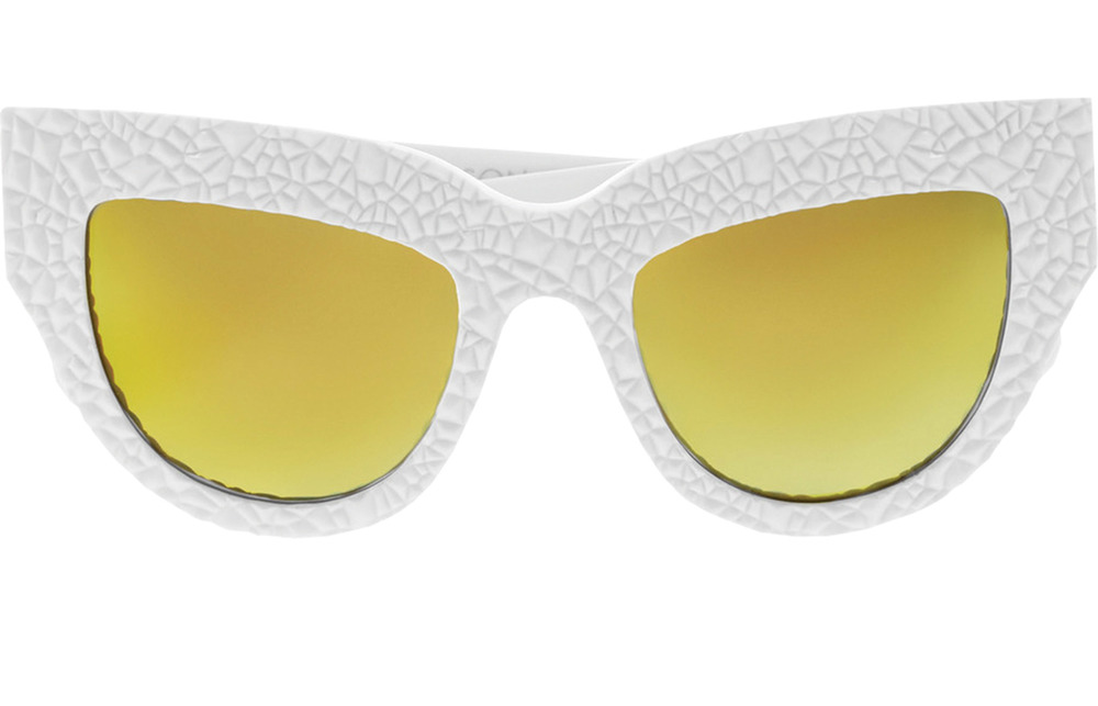 Anna-Karin Karlsson Lush Lily Cat-Eye Textured-Acetate Mirrored Sunglasses